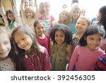 students children cheerful... | Shutterstock . vector #392456305