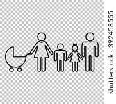 family sign. line icon on... | Shutterstock .eps vector #392458555