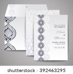 set of wedding cards.... | Shutterstock .eps vector #392463295
