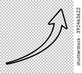 growing arrow sign. line  icon...