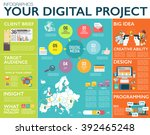 big infographics in flat style. ... | Shutterstock .eps vector #392465248