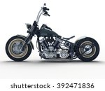 custom isolated motorcycle on a ... | Shutterstock . vector #392471836
