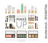beauty products collection  ... | Shutterstock .eps vector #392484766