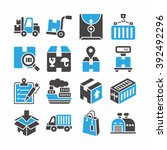 icon set logistic vector | Shutterstock .eps vector #392492296