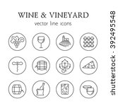 wine and vineyard line icons | Shutterstock .eps vector #392495548