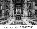 vatican city   july 12  2015 ... | Shutterstock . vector #392497036