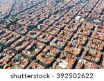 aerial view of typical... | Shutterstock . vector #392502622