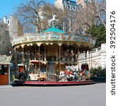 old french carousel   Shutterstock . vector #392504176