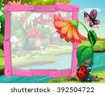 Border Design With Flower And...