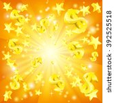 dollar jackpot money and stars... | Shutterstock .eps vector #392525518