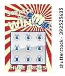 a lottery instant scratch and... | Shutterstock .eps vector #392525635