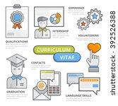 curriculum vitae design concept ... | Shutterstock .eps vector #392526388