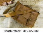 very beautiful new leather bag... | Shutterstock . vector #392527882