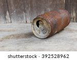 background canned corroded... | Shutterstock . vector #392528962