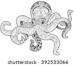 octopus sea animal coloring... | Shutterstock .eps vector #392533066