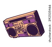 music boombox vector | Shutterstock .eps vector #392535466