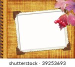album cover with frame and... | Shutterstock . vector #39253693