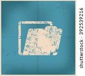 folder design on old paper...   Shutterstock .eps vector #392539216
