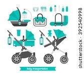 baby stroller transformer.... | Shutterstock .eps vector #392540998