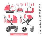 baby stroller transformer.... | Shutterstock .eps vector #392541016
