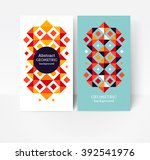 geometric design element.... | Shutterstock .eps vector #392541976