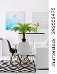 beautiful comfortable modern... | Shutterstock . vector #392553475