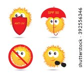 set of uv sun protection and... | Shutterstock .eps vector #392556346