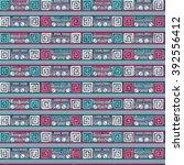 ethnic boho seamless pattern.... | Shutterstock .eps vector #392556412