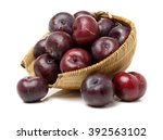 Sweet Plum Isolated On White...