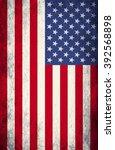 grunge usa flag | Shutterstock . vector #392568898