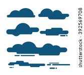 flat clouds icons ... | Shutterstock .eps vector #392569708