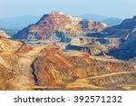 this mine is located in... | Shutterstock . vector #392571232