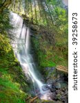 Merriman Falls In The Quinault...