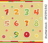 isolated number stickers in...   Shutterstock .eps vector #392591542