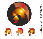 roman legionary helmet. vector...   Shutterstock .eps vector #392609935