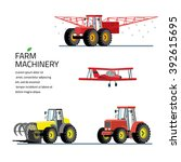 vector set of agricultural... | Shutterstock .eps vector #392615695