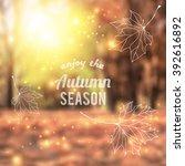 Blurred Autumn Park With Sun...