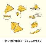 Vector Set With Tortilla Chips...