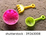 plastic sandbox child toy on... | Shutterstock . vector #39263008