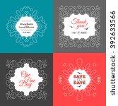 invitation card set. wedding... | Shutterstock .eps vector #392633566