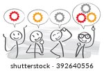 brainstorming creative team... | Shutterstock .eps vector #392640556