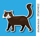 cute cat design  | Shutterstock .eps vector #392654812