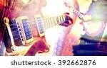 live music background.guitar... | Shutterstock . vector #392662876