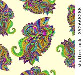 seamless color pattern | Shutterstock .eps vector #392668288