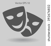 theatrical masks laughter and... | Shutterstock .eps vector #392676832