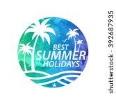 summer holiday vector | Shutterstock .eps vector #392687935
