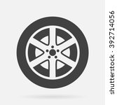 tire icon | Shutterstock .eps vector #392714056