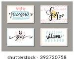 set of four cards. trendy...   Shutterstock .eps vector #392720758