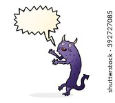 cartoon devil with speech bubble | Shutterstock .eps vector #392727085