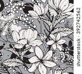 beautiful seamless vector... | Shutterstock .eps vector #392742562